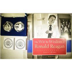 2011 2-COIN RONALD REAGAN  SILVER COMMEMS