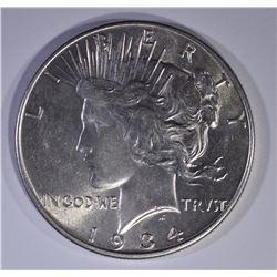 1934 PEACE DOLLAR  AU/BU