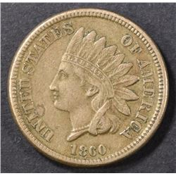 1860 INDIAN CENT XF