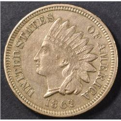 1862 INDIAN CENT XF+