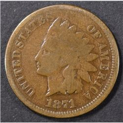 1871 INDIAN CENT GOOD, KEY DATE