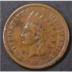 1872 INDIAN CENT FINE