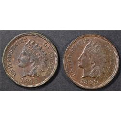 1895 & 99 INDIAN CENTS BU