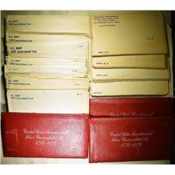 1 EACH 1969-79 CLAD & 3-76 3-PCS SILVER UNC SETS