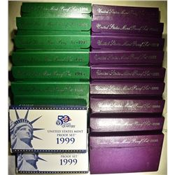 U.S. CLAD PROOF SETS FROM THE 1990'S