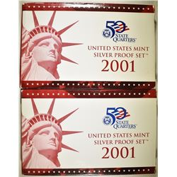 2-2001 U.S. SILVER PROOF SETS