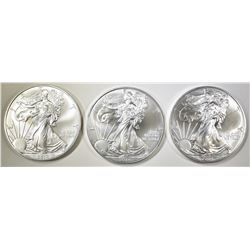 3-GEM BU  2014 AMERICAN SILVER EAGLES