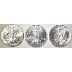 3-GEM BU 2015 AMERICAN SILVER EAGLES