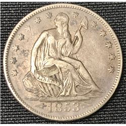 1853 USA Liberty Seated Half Dollar