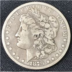 1879 CC USA Morgan Silver Dollar