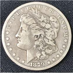 1879 CC USA Morgan Silver Dollar