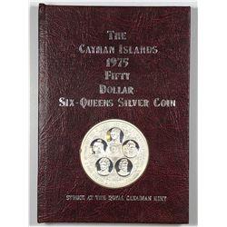 1975 Cayman Islands $50 Six-Queens Silver Coin
