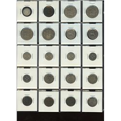 Mauritius- Lot of 20 Coins