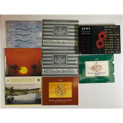 Royal Australian Mint Uncirculated & Proof Sets - Lot of 8