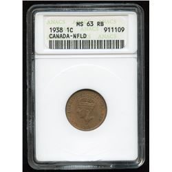 1938 Newfoundland One Cent