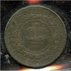 1864 New Brunswick One Cent Error
