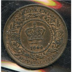 1864 Nova Scotia Half Cent