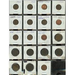 One Cent Lot of 42 Coins