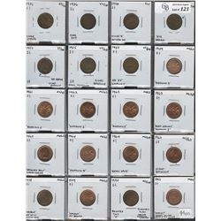 Canadian One Cent Varieties - Lot of 44