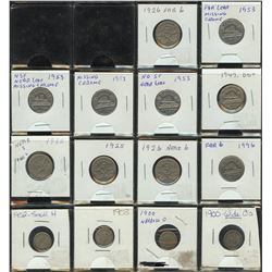 Five Cents - Lot of 14 Coins