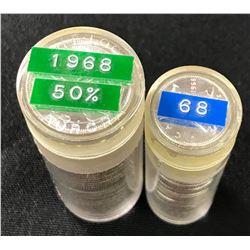 1968 BU Silver Canada 25 & 10 Cents Rolls