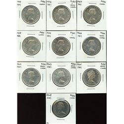 Lot of 10 Proof Like Fifty Cents