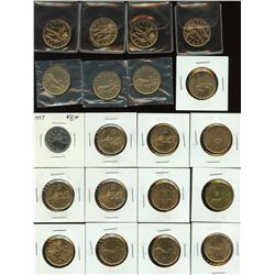 Quarter, Loonie, Twoonie - Lot of 26 Coins
