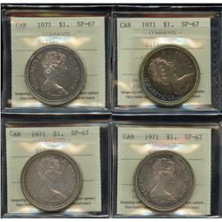 1971 Silver Dollars - Lot of 4 ICCS Graded Coins