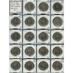 Full Set of Business Strike Nickel Dollars (1968-1986)