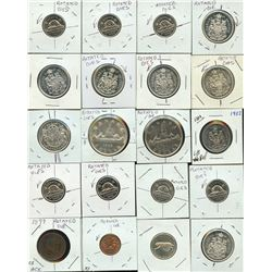 Rotated Dies, Varieties - Lot of 26 Coins
