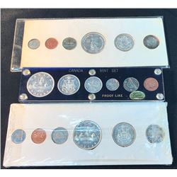 Canada PL Silver Coin Year Sets - Lot of 3
