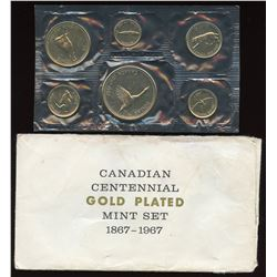 1967 Royal Canadian Mint Gold Plated Mint Set