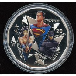 2016 Batman Vs. Superman Dawn of Justice: The Trinity $20 Fine Silver Coin