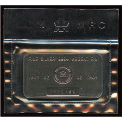 Vintage Royal Canadian Mint 1 oz. Silver Bar