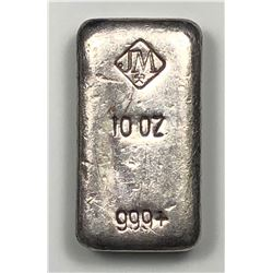Johnson Matthey 10 oz. Poured Silver Bar