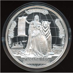2017 Canada 150 Canadian Confederation Medal - 10 oz. Pure Silver