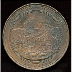 1890 Inauguration of the Port of La Plata bronze medal by R. Podesta & Co.