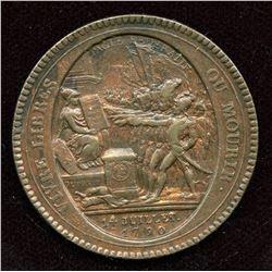 Bronze Medallion France Vivre Libres ou Mourir, 1792