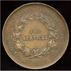 Prince Albert medal for the services rendered to the exhibition