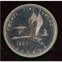 1965 Royal Canadian Mint Twenty-Five Cents Test Token