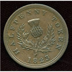 BR 867 Nova Scotia Half Penny Token