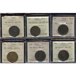 Pre-Confederation - Lot of 6 ICCS Graded Coins