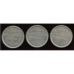 Canada Communion Tokens - Lot of 3