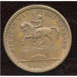 1863  UNION FOREVER  Civil War Token