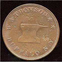 1837 Hard Times Token. W.A. Thomson Buffalo, NY