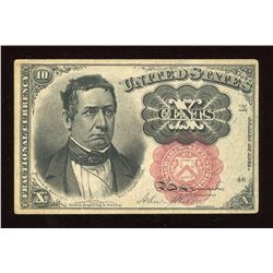 1849 United States Fractional Currency Note 10 Cents