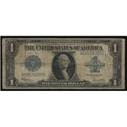 1923 Silver Certificate Horse Blanket Large Blue Seal One Dollar Note