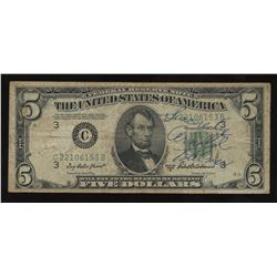 1950 United States of America $5 - Signed by Golfer Arnold Palmer