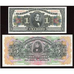 Cuba, Costa Rica Specimen & Proof Lot of 5 Notes