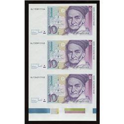 BDR 2013 Euro Specimen & Uncut Sheet of 3 Notes - Germany